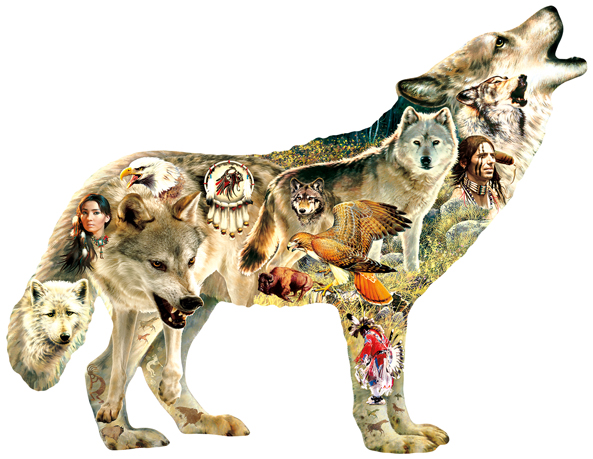 96049 - Native American Wolf