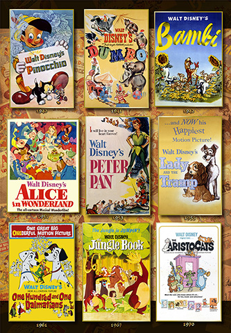 Disney Animation Poster Collection (1000 stukjes)