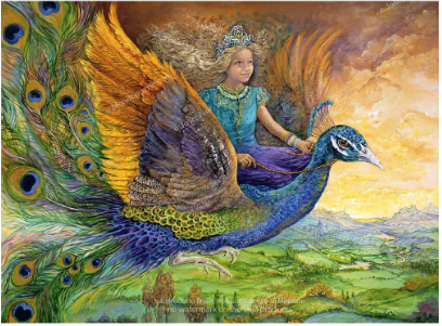 Josephine Wall - Peacock Princess (1000 stukjes)