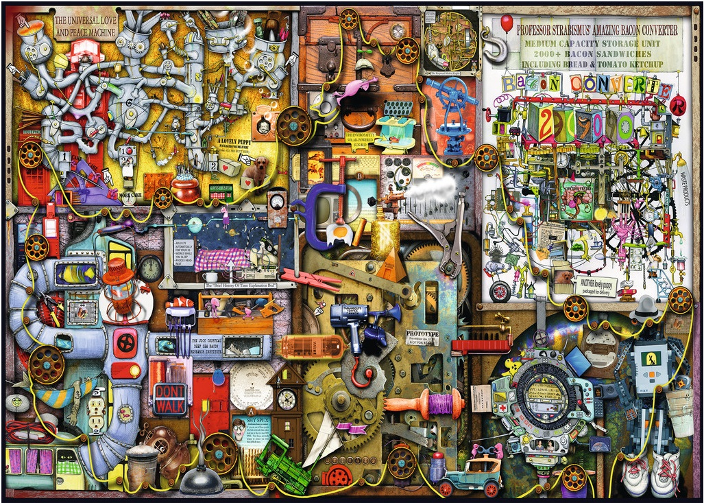Colin Thompson - The Inventor's Cupboard (1000 stukjes)