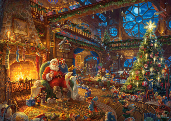 Thomas Kinkade - Santa's Workshop (1000 stukjes)
