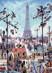 Loup - Eiffel Tower (1000 stukjes, Cartoon Classics)