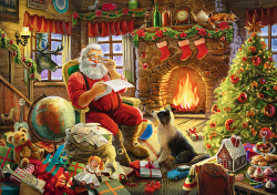 Trefl - Santa Claus in front of a fireplace (1000 stukjes)