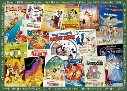 Disney Vintage Movie Posters  (1000 stukjes)