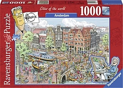 Fleroux: Cities of the World - Amsterdam (1000 stukjes)